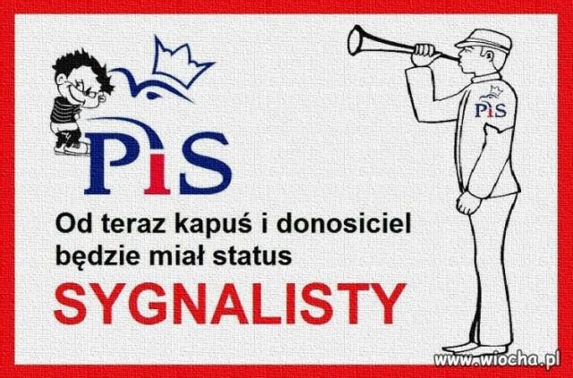 PIS TWORZY INSTYTUCJE SYGNALISTY – CZYLI ETATOWEGO KAPUSIA